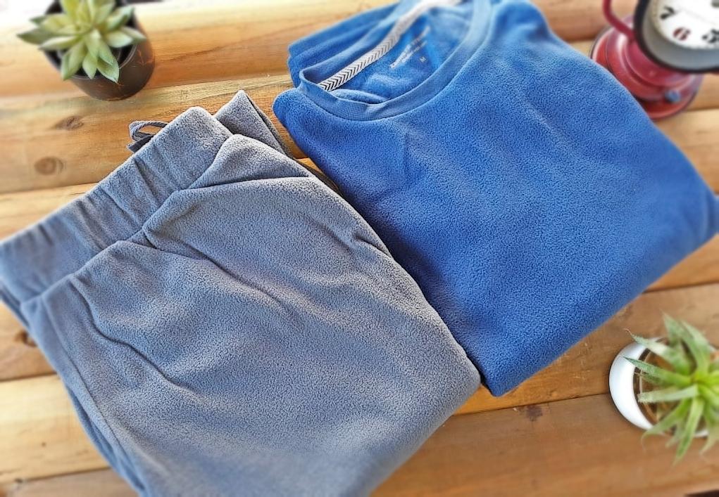 Pijama Hombre Talla M Azul Gris
