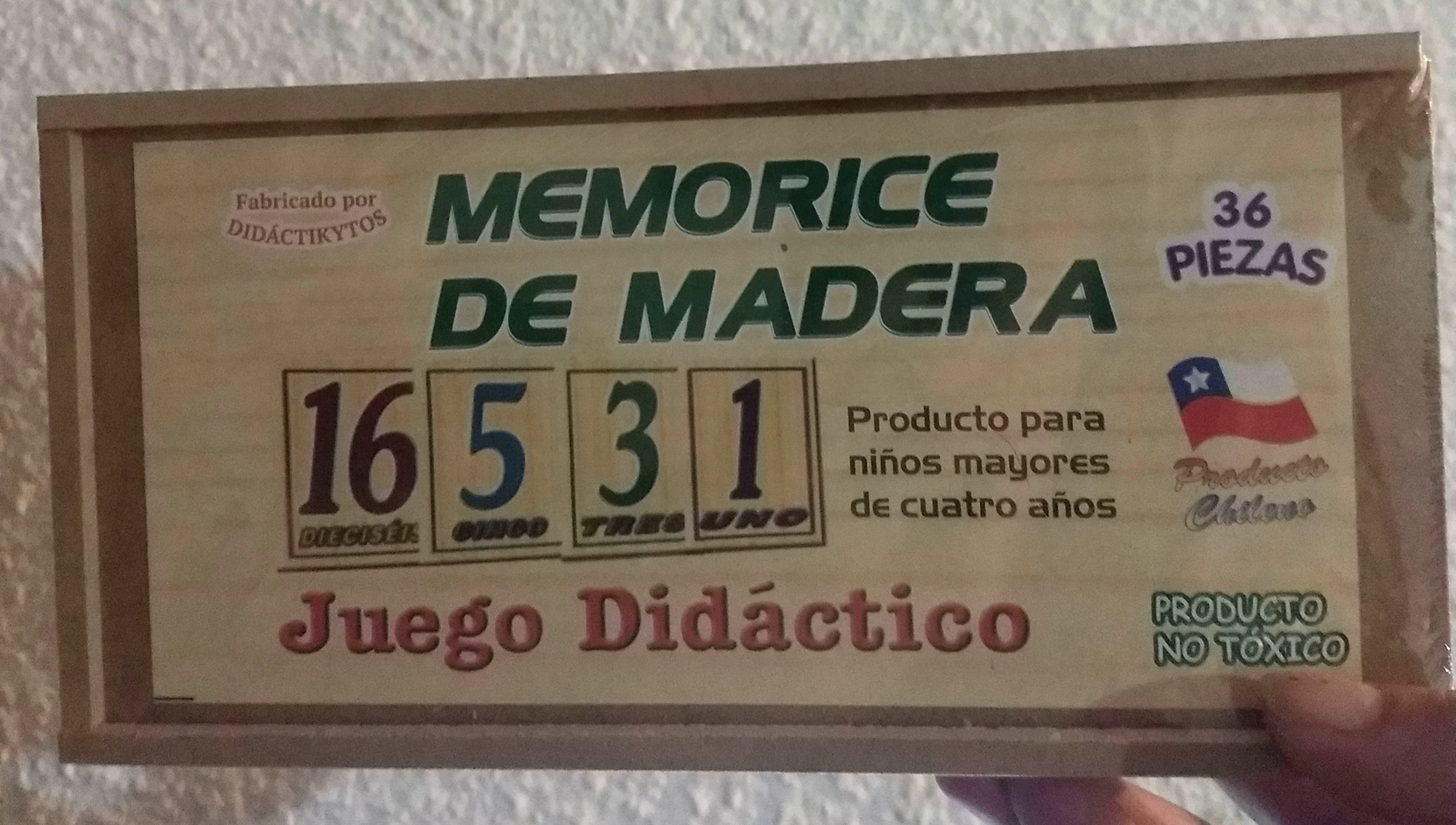 memorice madera numero
