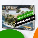 juguete tipo lego lancha militar set