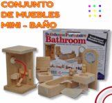 conjunto de muebles madera baño